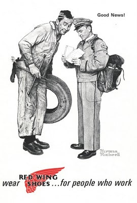 Norman Rockwell Redwing Advertisement