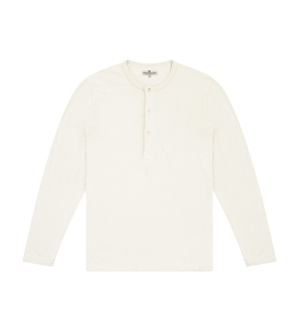 Long Sleeve Henley Tube Tee, Knickerbocker, - Felding Co