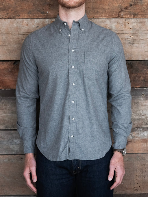 Grey Classic Flannel, Shirting, Gitman Brothers Vintage - Felding Co