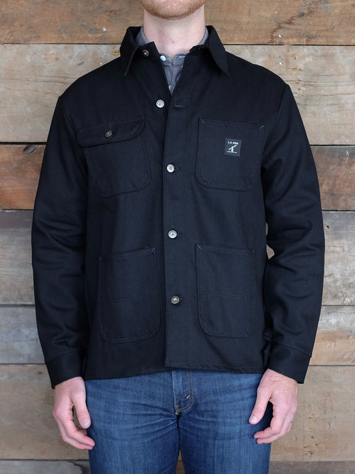 Black Denim Chore Coat, LC King, - Felding Co