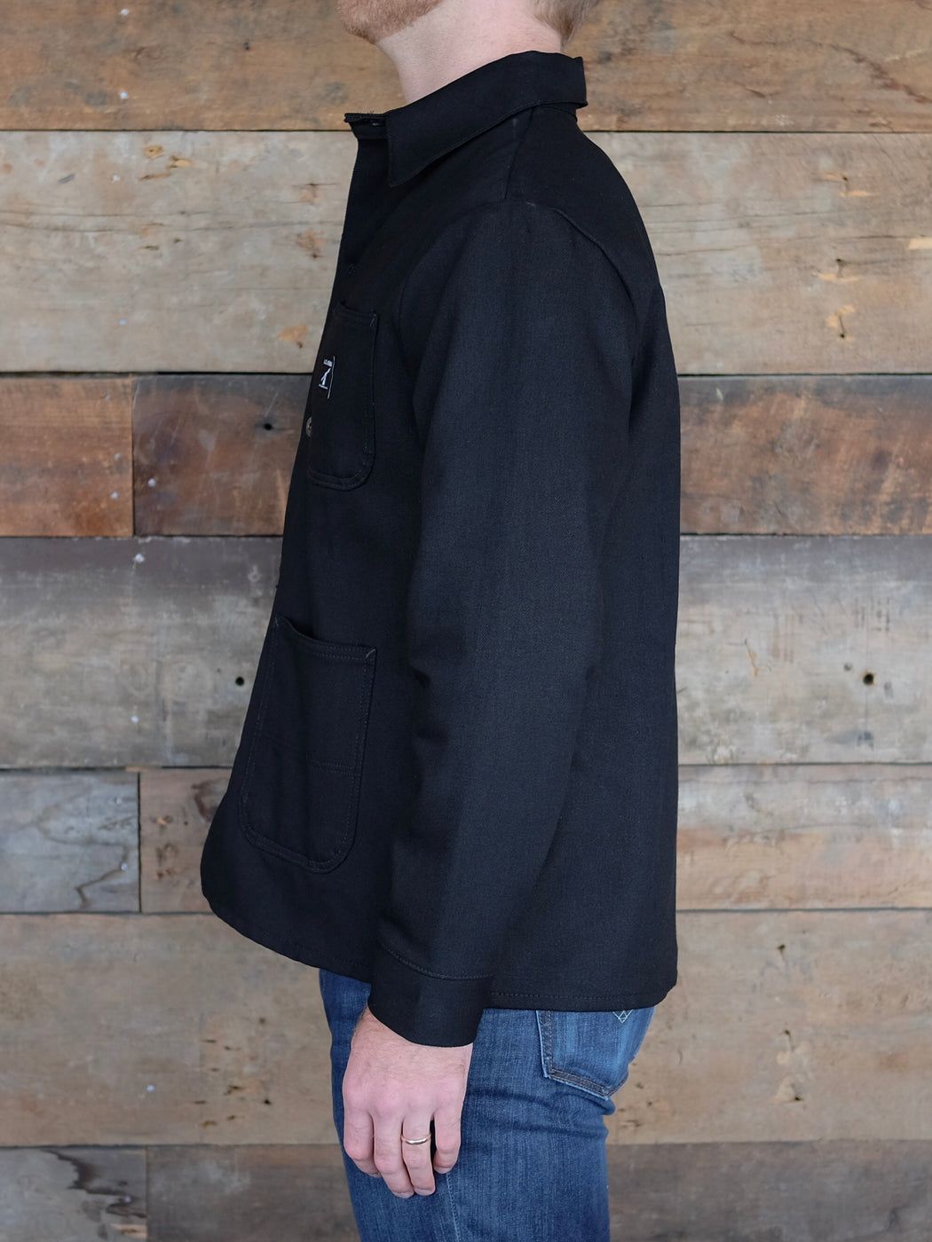 Black Denim Chore Coat, Outerwear, LC King - Felding Co