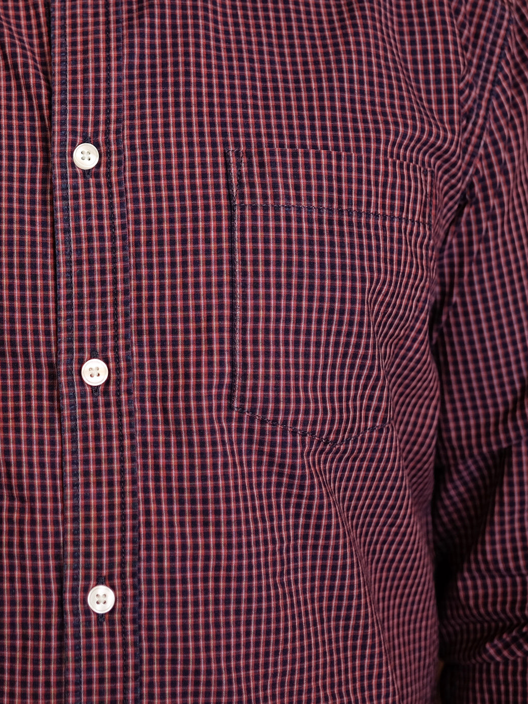 Indigo Red Check Long Sleeve Shirt, Corridor, - Felding Co