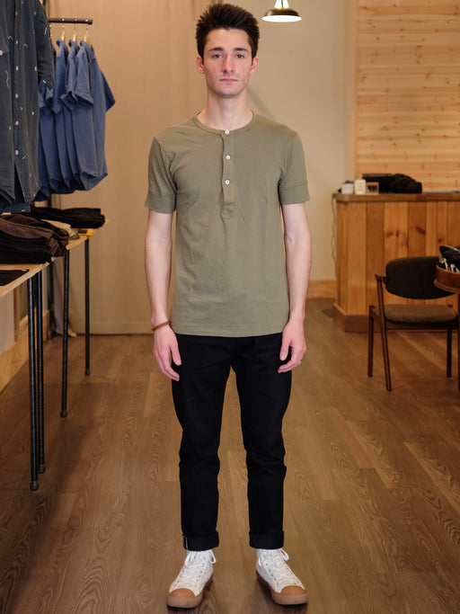 Short Sleeve Henley Tube Tee, Knickerbocker, - Felding Co