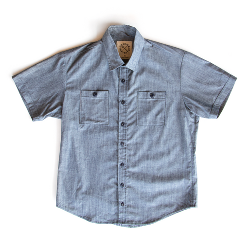 Fristoe Chambray Short Sleeve Shirt, Shirting, Denim & Spirits - Felding Co