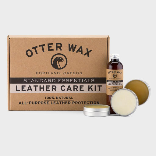 Otter Wax Leather Care Kit including: Saddle Soap, Leather Salve, Leather Oil, Boot Wax, & Buffing Cloth
