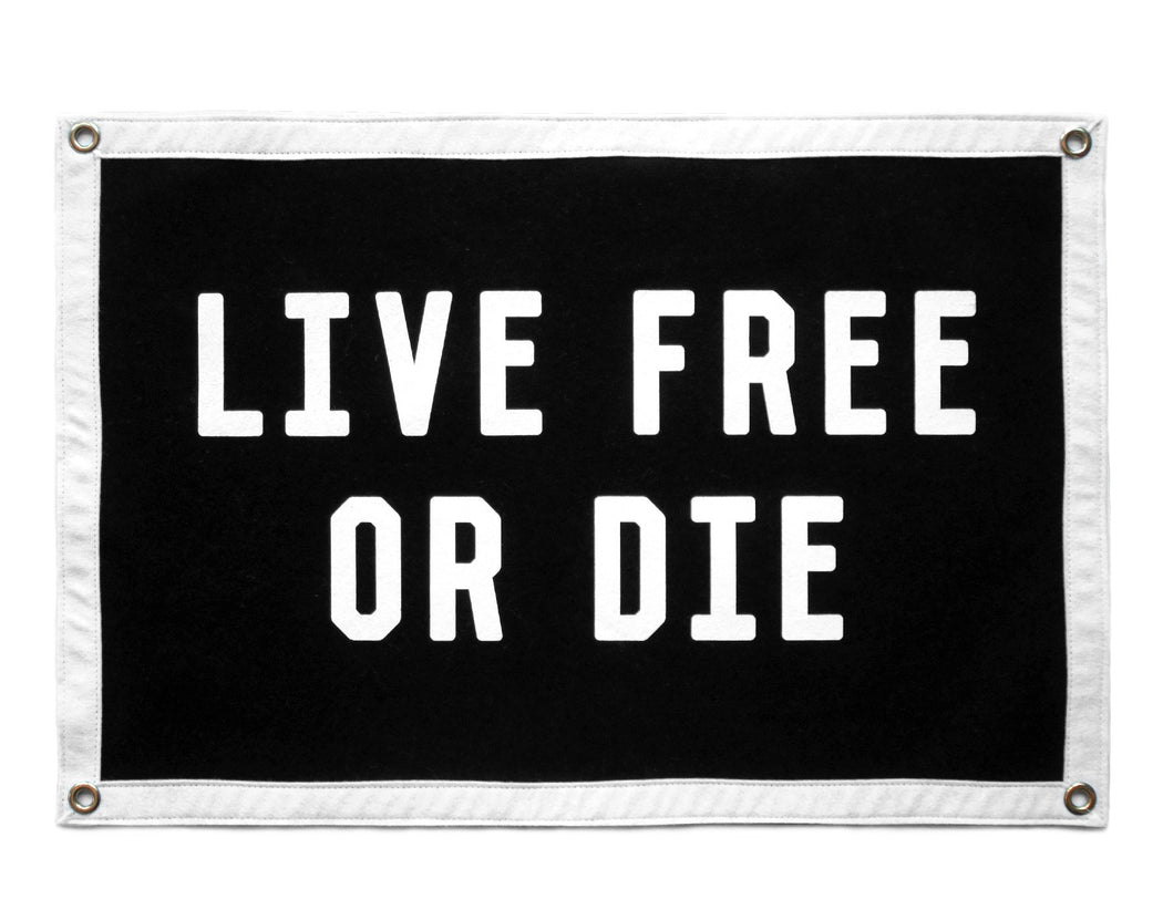 Live Free or Die Camp Flag, Small Goods, Oxford Pennant - Felding Co