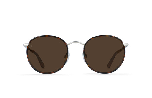 Raen Mason Burlwood + Silver / Brown Sunglasses