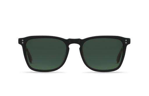 Raen Wiley Matte Black + Matte Brindle Tortoise / Green Polarized Sunglasses