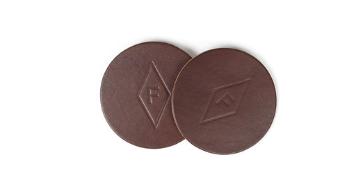 Felding Co Leather Coaster Set 4-pack, Small Goods, Felding Co - Felding Co
