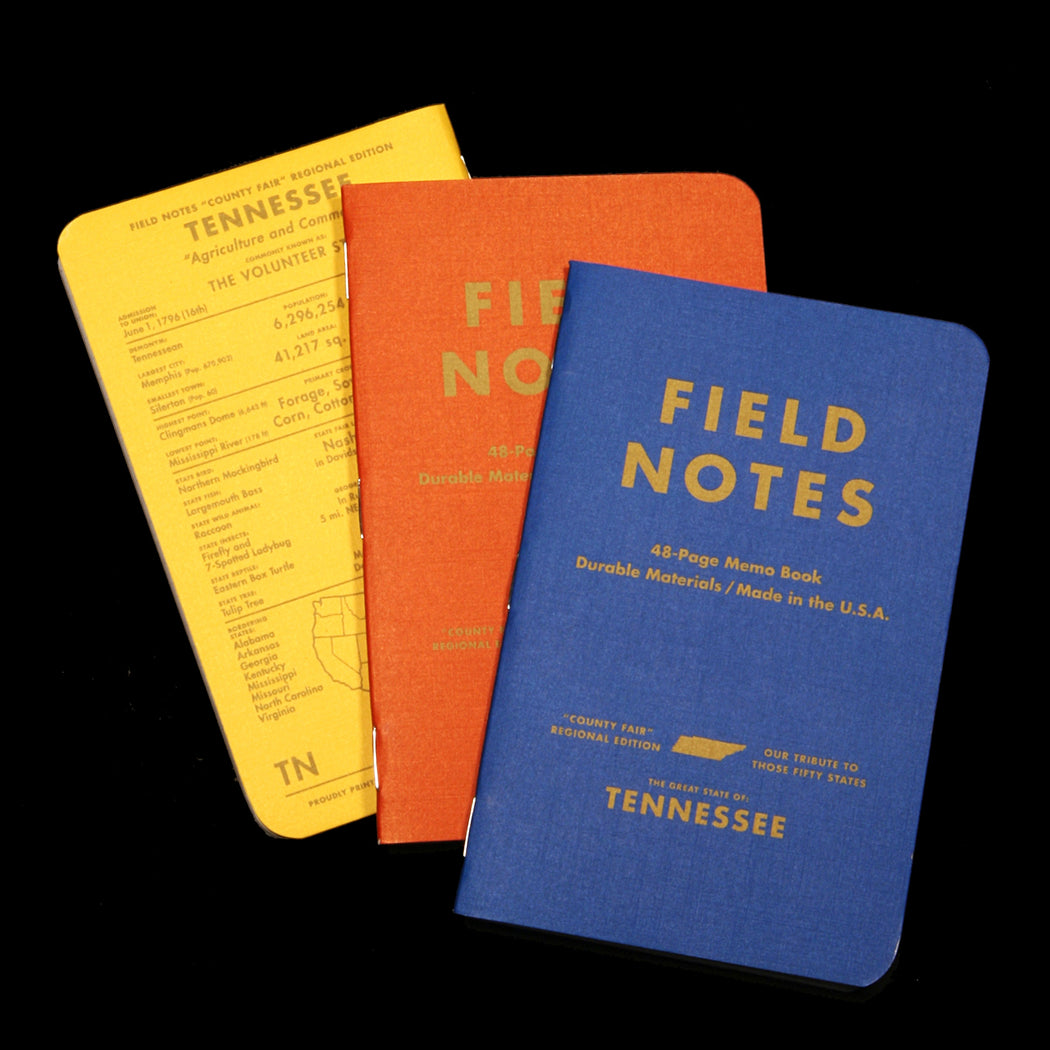 Tennessee County Fair Memo Book 3-Pack, Field Notes, - Felding Co