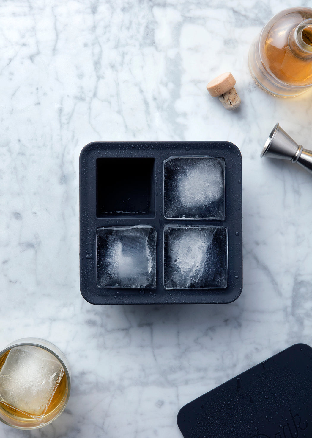Extra Large Ice Cube Tray for whiskey, bourbon, or cocktails.