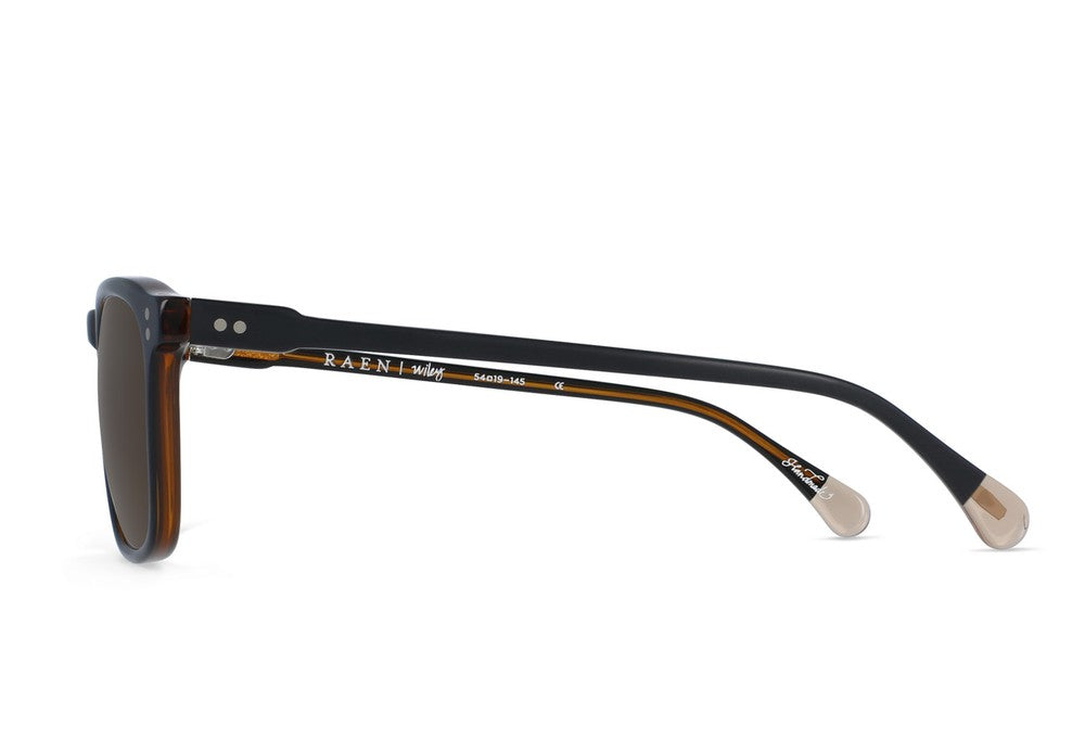 Raen Wiley Black and Tan Sunglasses