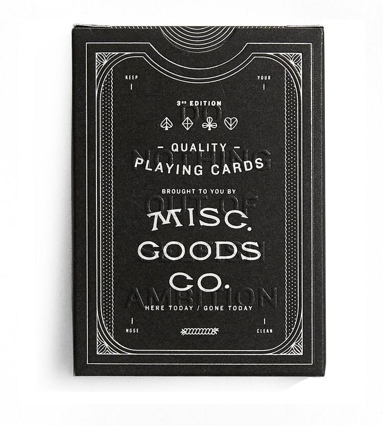 Black Deck of Playing Cards, Small Goods, Misc. Goods Co - Felding Co