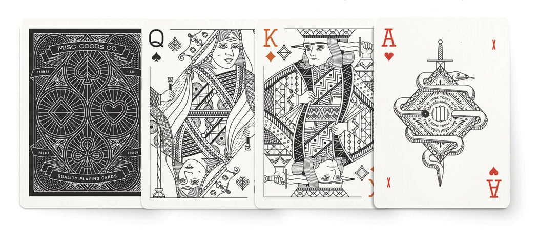 Black Deck of Playing Cards, Misc. Goods Co, - Felding Co