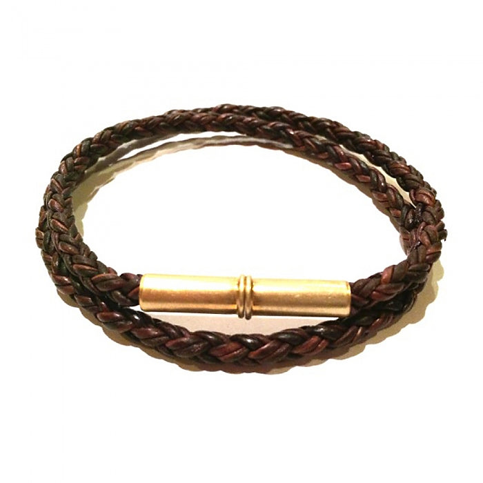 Flint Braid Bracelet, Tres Cuervos Leatherworks, - Felding Co