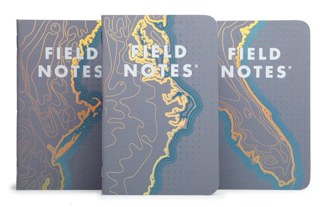 Coastal Memo Book 3-Pack, Small Goods, Field Notes - Felding Co