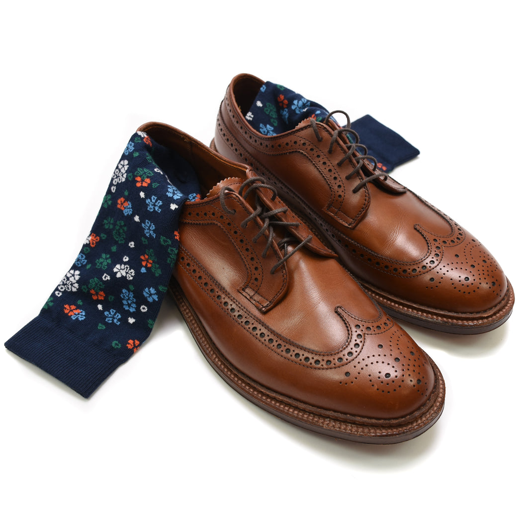 Supima Floral Sock, American Trench, - Felding Co