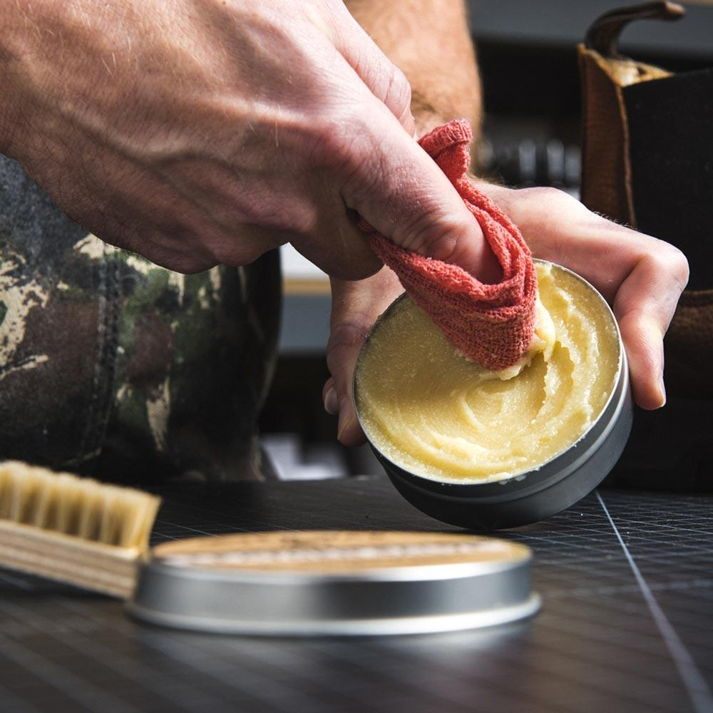 Otter Wax Leather Salve perfect for conditioning leather of all types