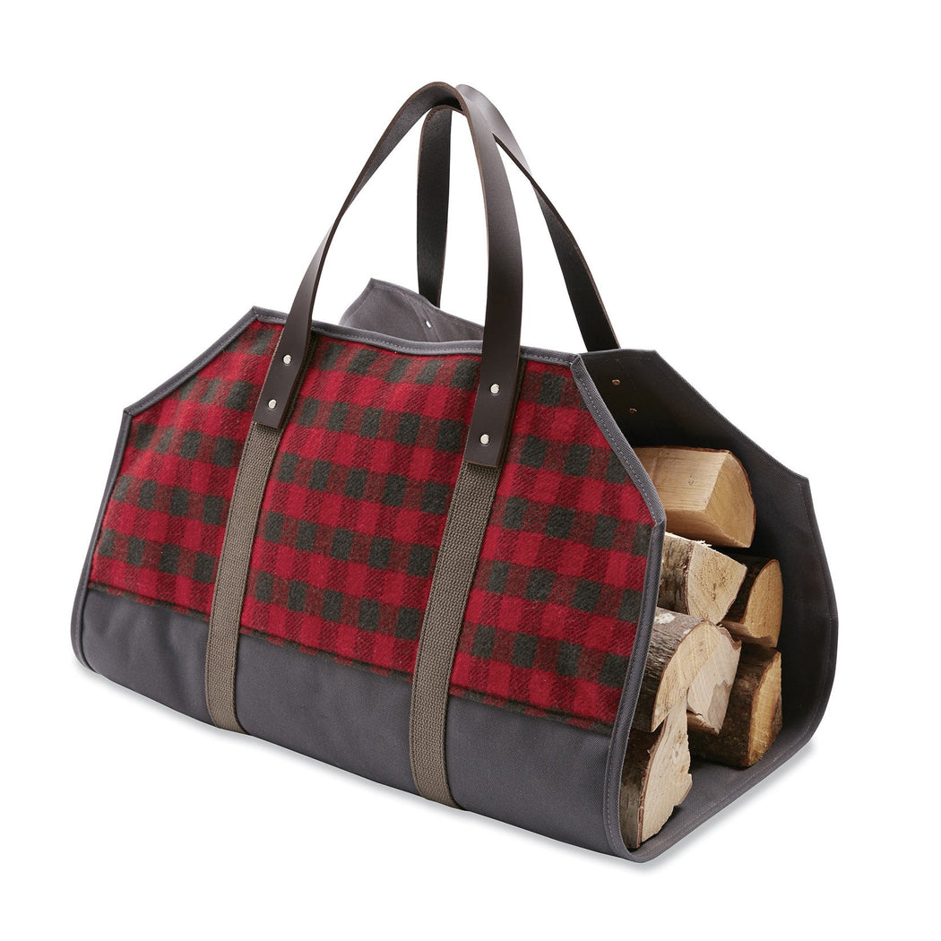 Mini Buffalo Check Wool Log Carrier, Small Goods, Faribault Woolen Mill Co. - Felding Co