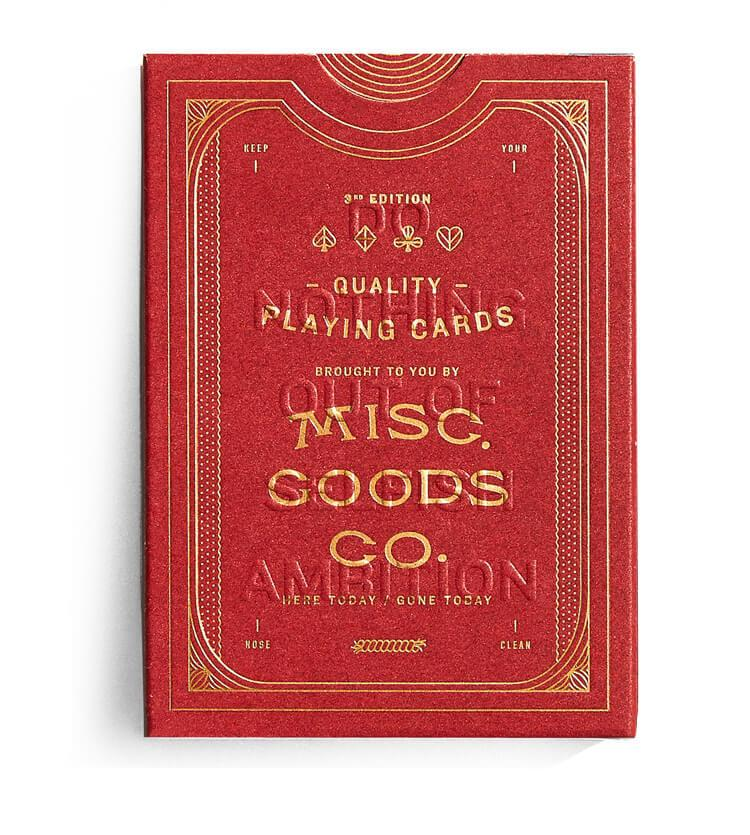 Red Deck of Playing Cards, Misc. Goods Co, - Felding Co