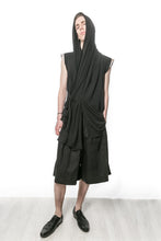 JAHNOT OOAK Sleeveless Hooded Cardigan