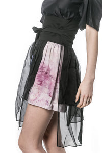 SOHK OOAK Multi-layer Mini Wrap Skirt