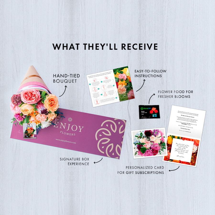 Signature - Delivers Monthly - 3 Month Prepay (Gift) - Enjoy Flowers
