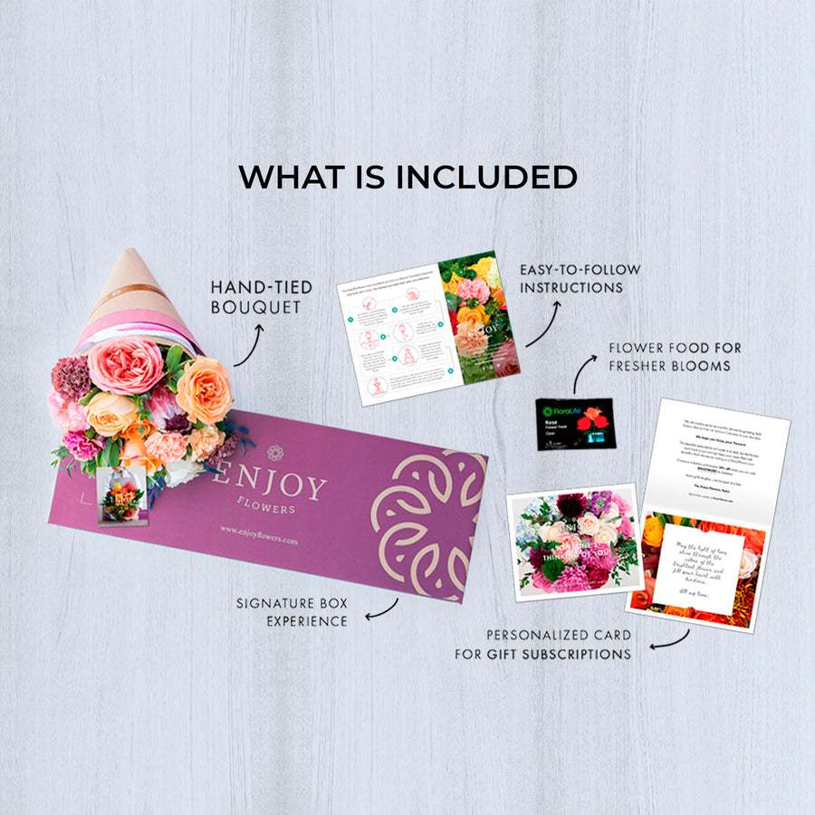Signature - Delivers Monthly - 3 Month Prepay - Enjoy Flowers