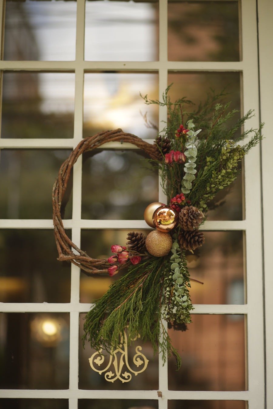 Stunning Holiday Wreath - Crafted to last all month! - Enjoy Flowers