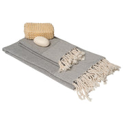 Rain Lily Bath & Hand Towel Gift Set - Grey