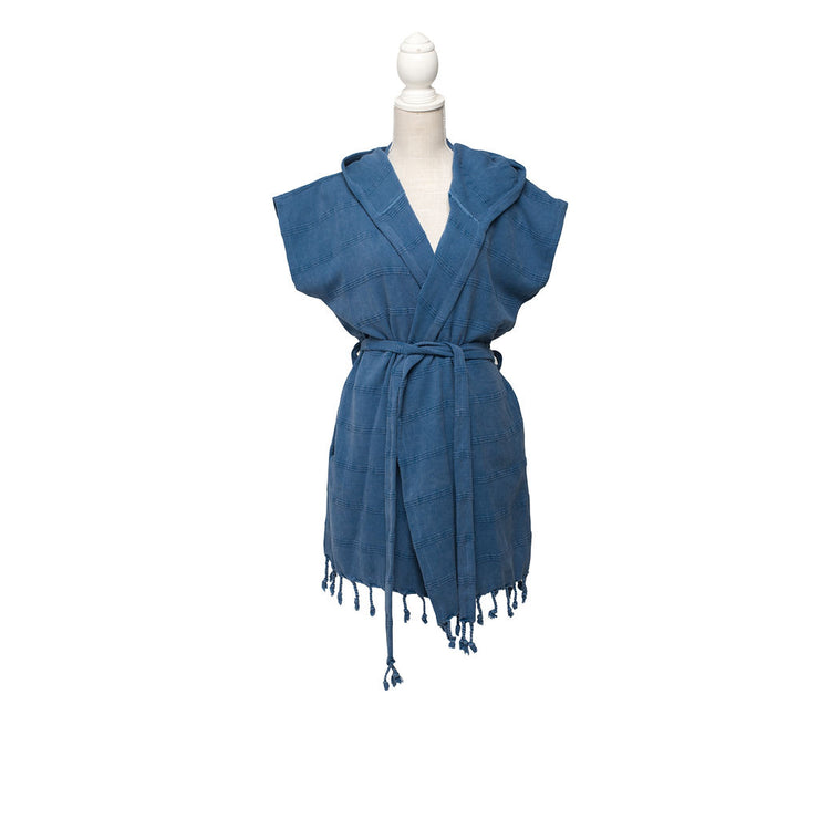 Stonewashed Beach Dress - Navy