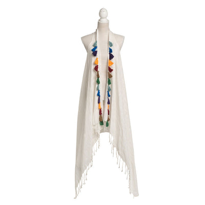 Bamboo Beach Dress with Handmade Tassels