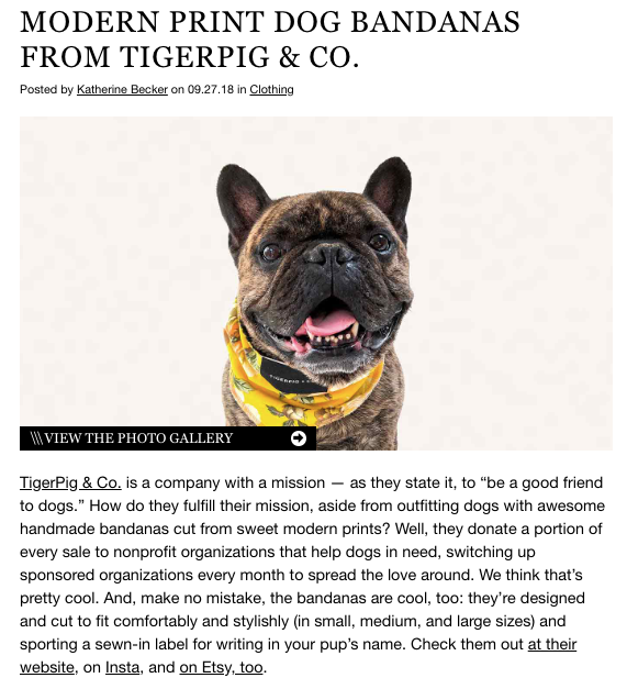TigerPig & Co on Dog Milk