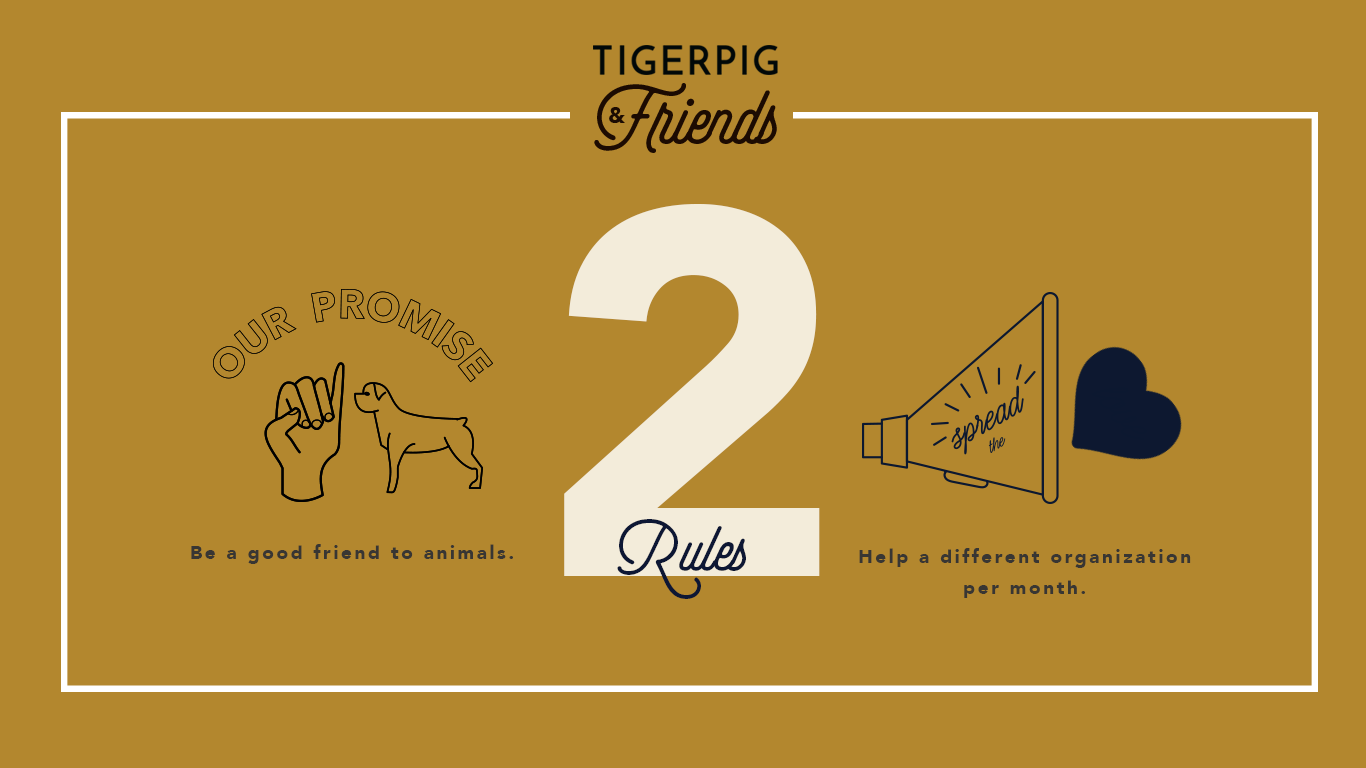 Tigerpig and Co_ Tigerpig and Friends_Our Rules_Dog Bandanas-Made in Los Angeles