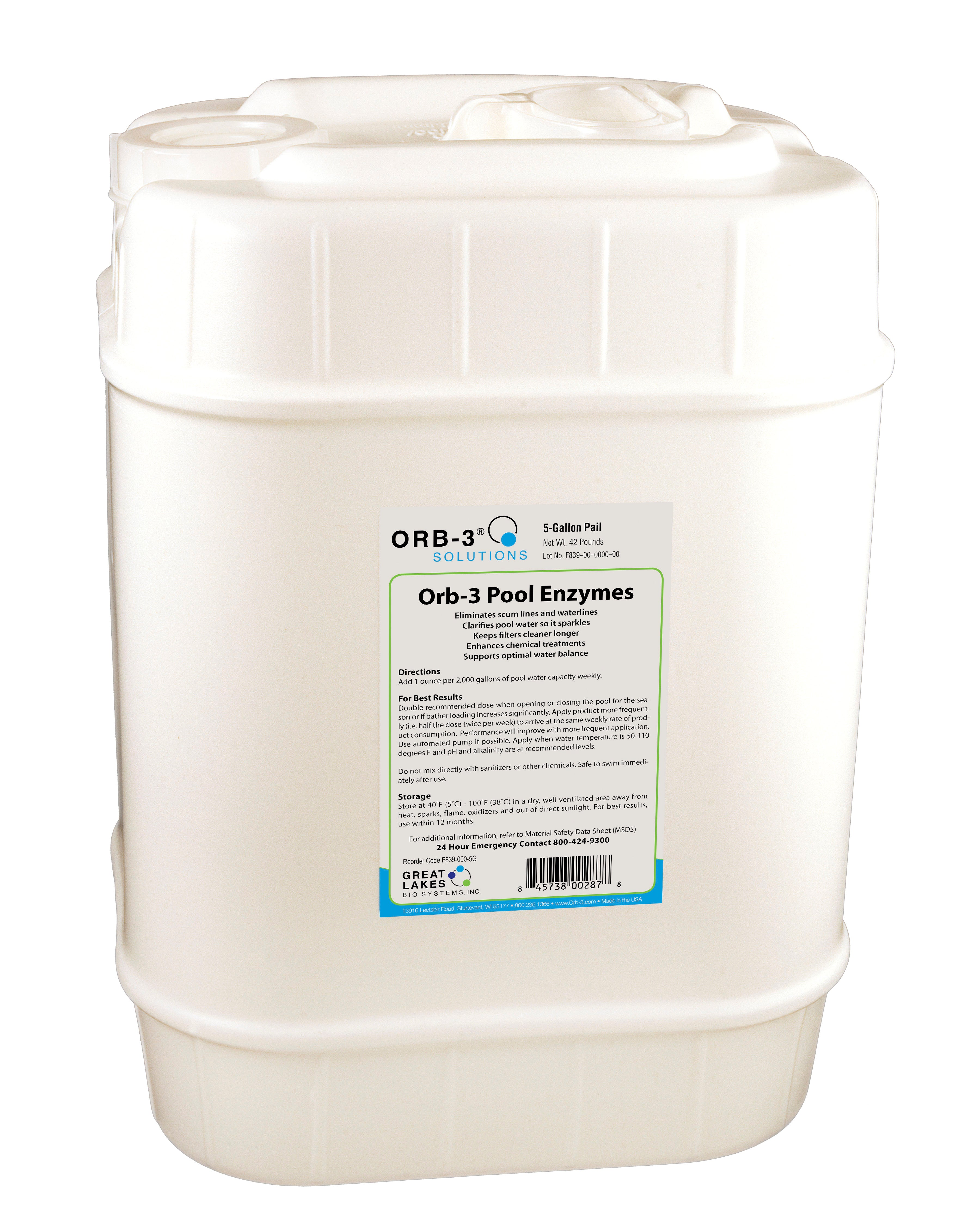 Orb 3 Pool Enzymes Cleanses Water And Reduces Chemicals Great