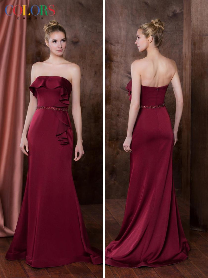 Strapless Faille Dress