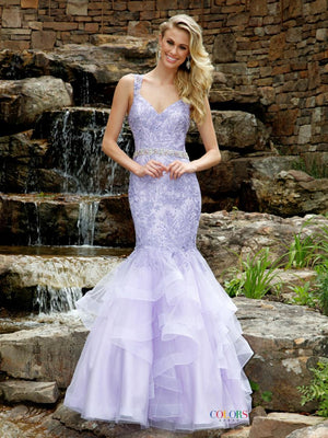 Lace Ruffle Mermaid Dress