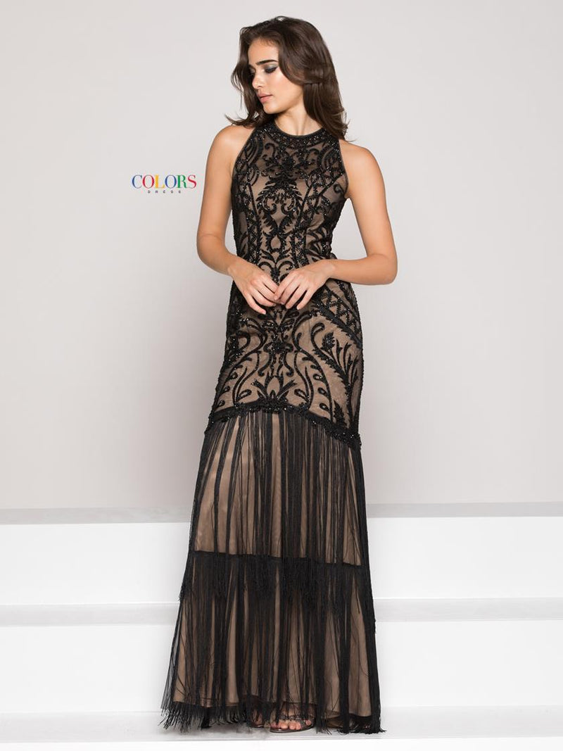 Mesh Embroidered Lace Dress