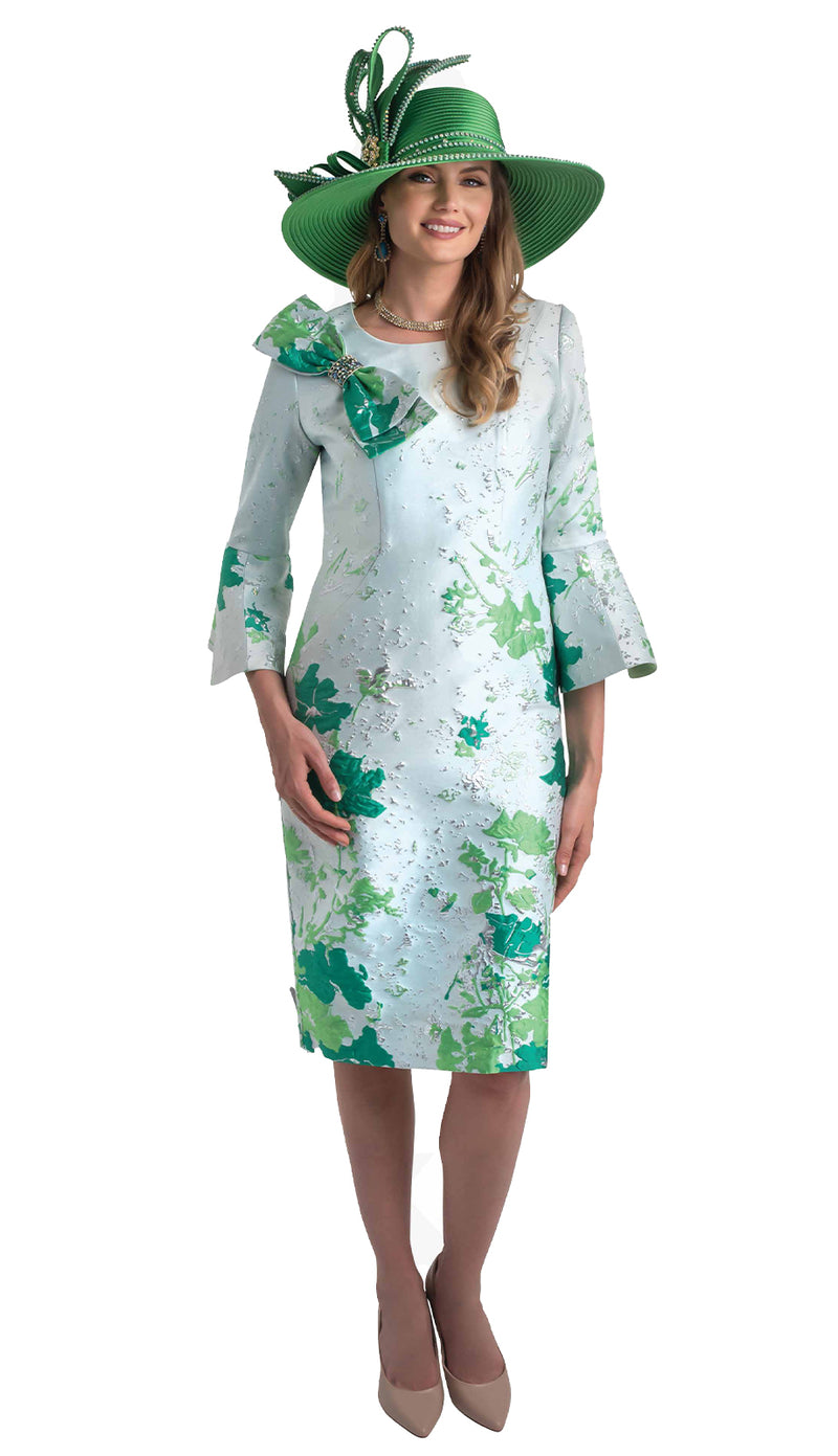 Lily & Taylor Dress 4356 Emerald / Multi