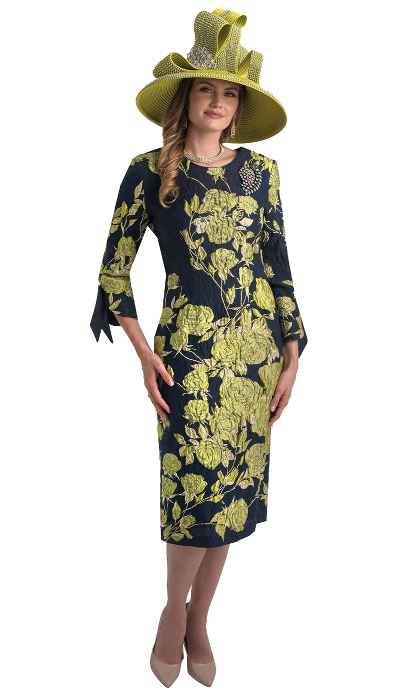 Lily & Taylor Dress 4393 Navy / Green