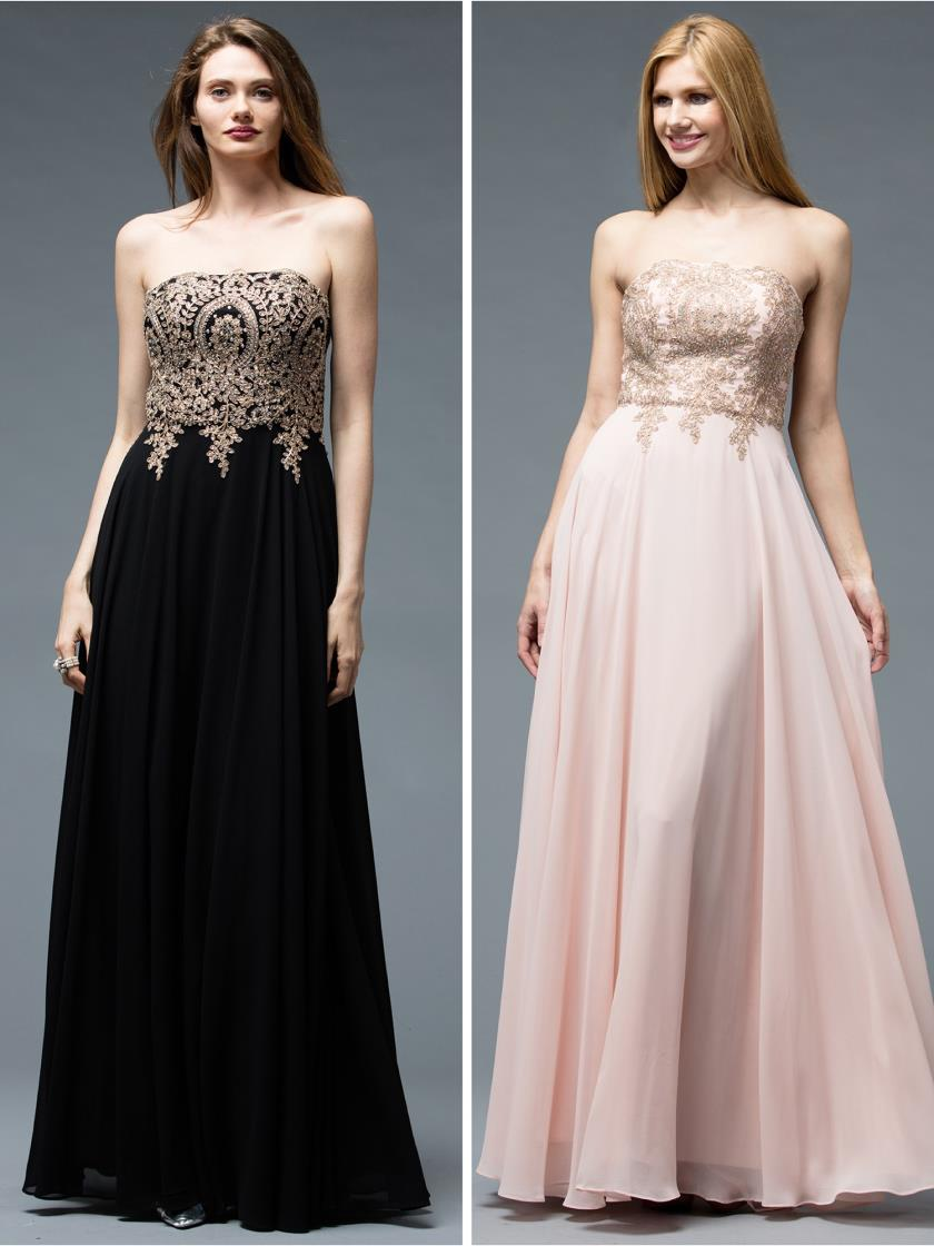 Strapless Chiffon Dress