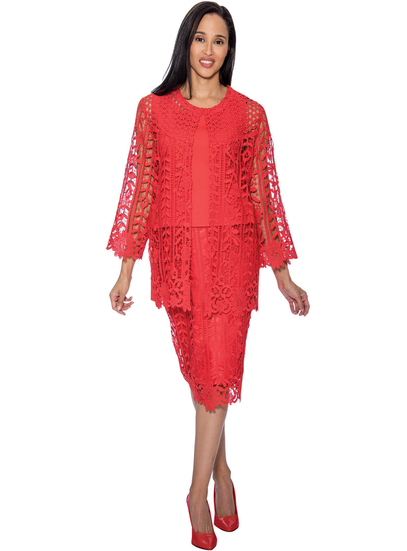 Guipure Lace Suit