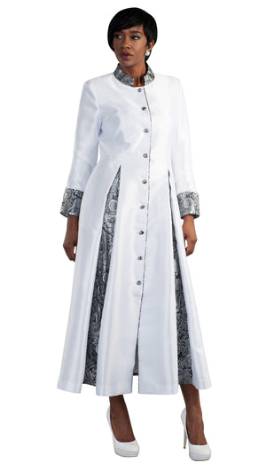 Brocade Pleated Robe 4544