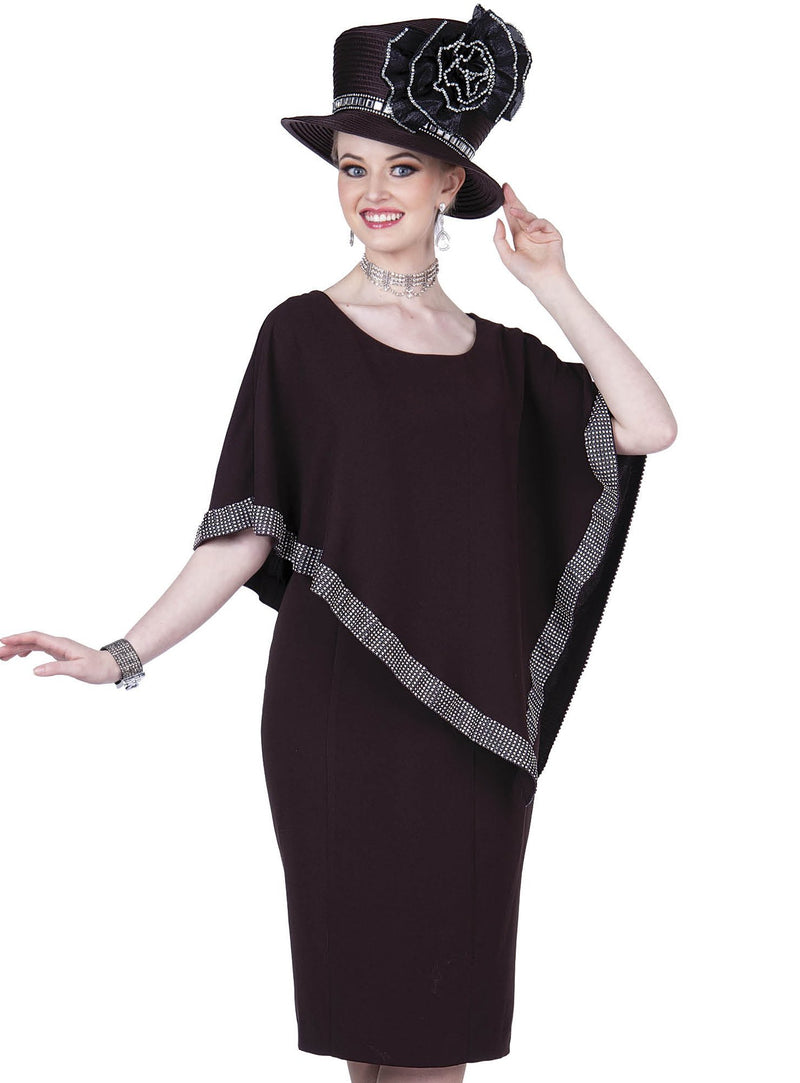 Poncho Peachskin Sheath Dress