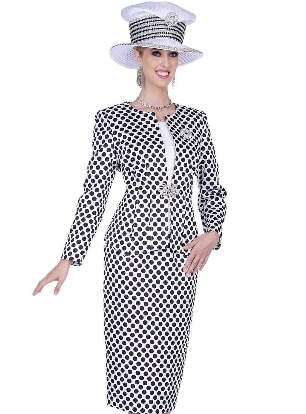 Black & White Polka Dot Suit