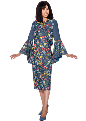 Floral Denim Jacket Dress 62082