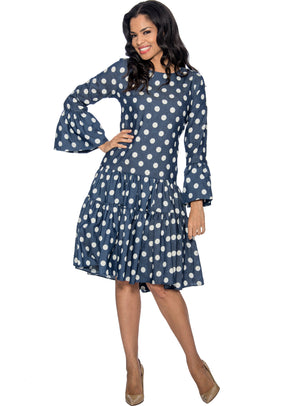 Tiered Ruffle Polka Dot Dress