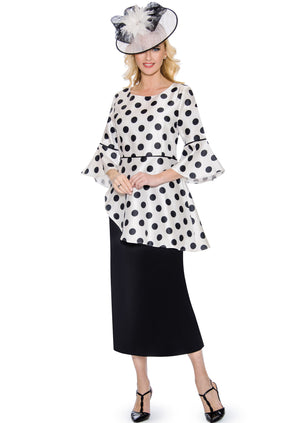 Polka Dot Peplum Dress D1350