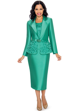 Embroidered Laser-Cut Suit G1074