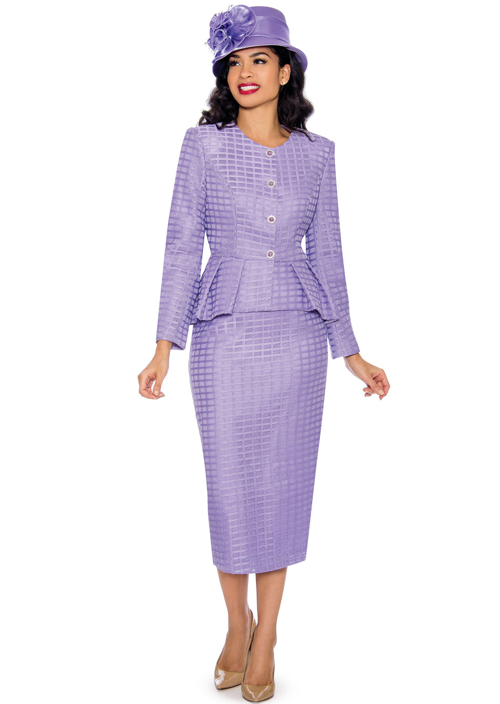 Lace Windowpane Suit G1087